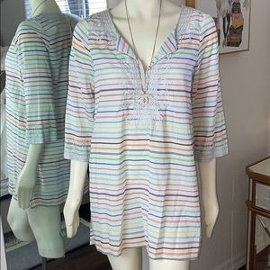 Calypso Stripped Blouse